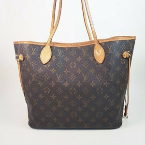 Auth Louis Vuitton Neverfull Mm Tote Bag #4043L55B